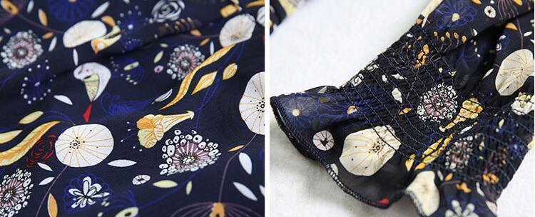 A-149【送料無料】レディース  美品  Aライン シフオン花柄ワンピ   ♪ロングワンピース