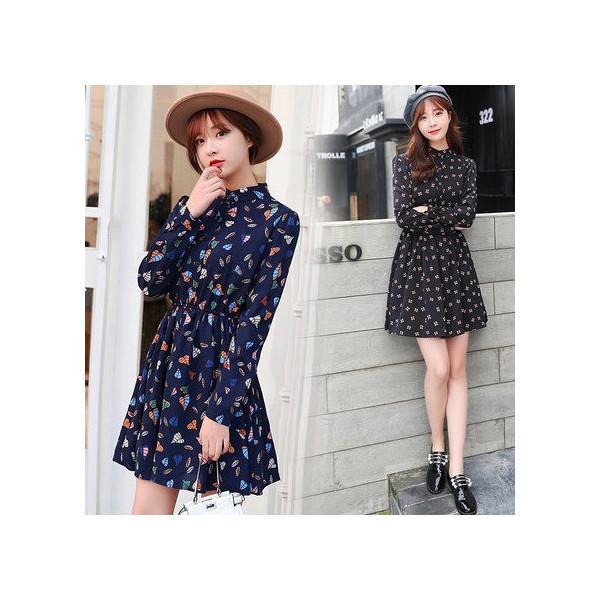 【送料無料】レディース ワンピース シフォン ミニスカート カラフル ファッション 2017 新作