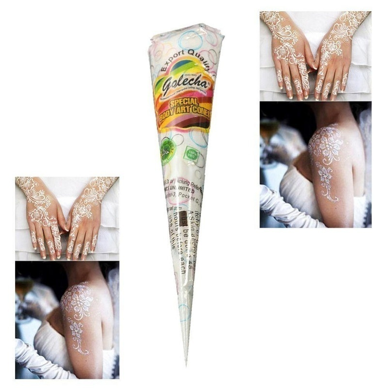 Qoo10 White Color Indian Tattoo Henna Paste Cone For Body Art Drawing Tempor Computer Game