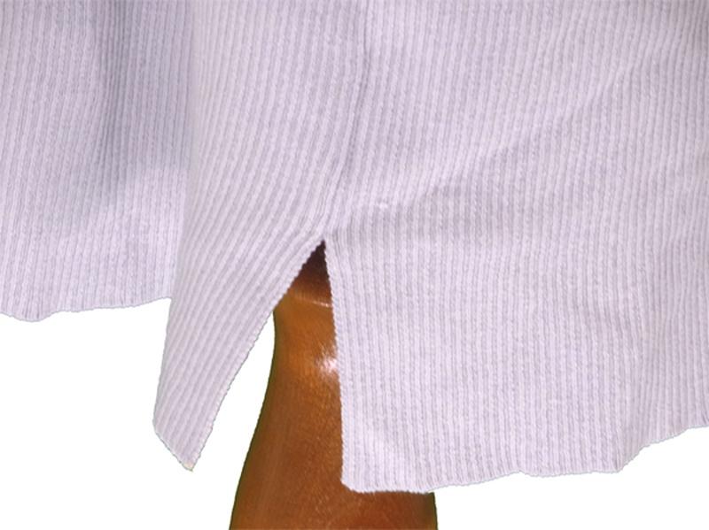 マーキュリーデュオ MERCURYDUO  ワンピース 裾スリット入り レディース ドルマン袖 ニット ライトグレー (上身頃)ポリエステル54%アクリル21%ナイロン20%毛5%(下身頃)ポリエステ
