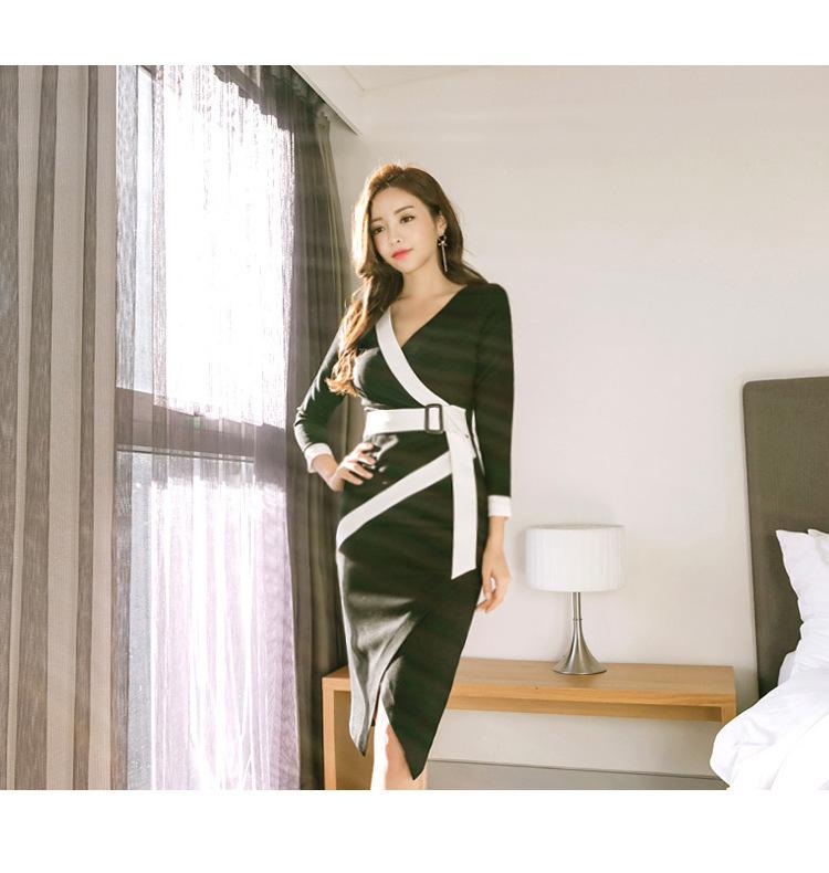 [55555SHOP]レディース 新作 Sale ワンピース OL  Party 通勤  ミドル ドレス