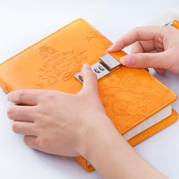 A6 / B6 / A5クリエイティブビジネスノートノートパスワードロックジャーナル日記シークレットガーデンブックオフィス&
