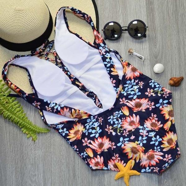 セクシーな女性ワンピースプッシュアップビキニ包帯Monokini水着水着スーツ水着