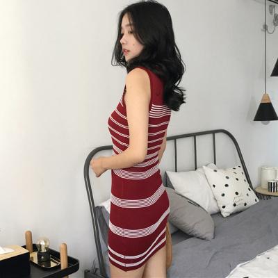 夏 新しいデザイン 女性服 セクシー タイト ボトム  ヒップカバー タンクドレス スト