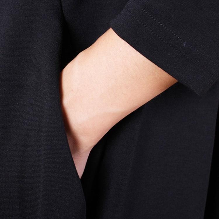 ルーズ ワンピース Aライン ワンピース 長袖 体型カバー ゆったり エレガント フェミニン レディース