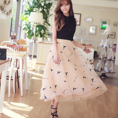 7新品韓国ファッション春の夏ワンピース 半袖のワンピース ストライプのワンピース 七分の袖ワンピース 二点セットワンピース
