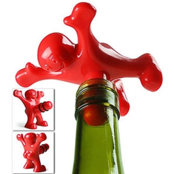 サー・パーキーパーキー・ノベルティ・ギャグギフト・ワインボトル・ストッパー(カラー:レッド)