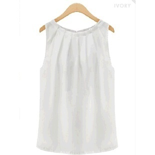 女性のブラウスフェミニーズトロピカルセクシーフォールドノースリーブシフォンプラスサイズカジュアルトップス服装ブラウス