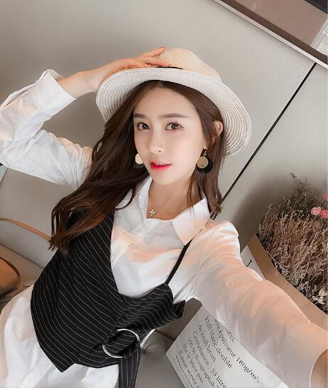 [55555SHOP]韓国ファッション★女性ファッション★♥/シフォン/大コード/ワンピース