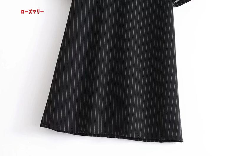 【ローズマリー】黒いワンピース フィットスタイル ヴィンテージ調 スイート かわいい-QQ5747