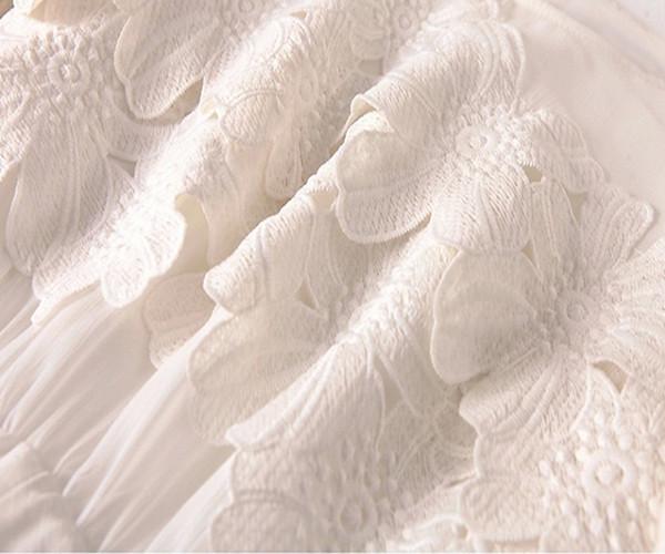 【一部翌日発送】【送料無料】レースワンピース白ワンピース 大人可愛い 春ワンピース/ロング丈 レディース 大きいサイズ ワンピース 白 ワンピ 夏ワンピ マキシワンピ・シフォンワンピース・白ワンピース