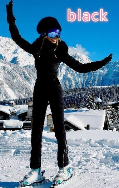 ワンピースマウンテンスキースーツ女性ウォームプルーフスキージャケットスノーボードスーツ通気性スキージャム