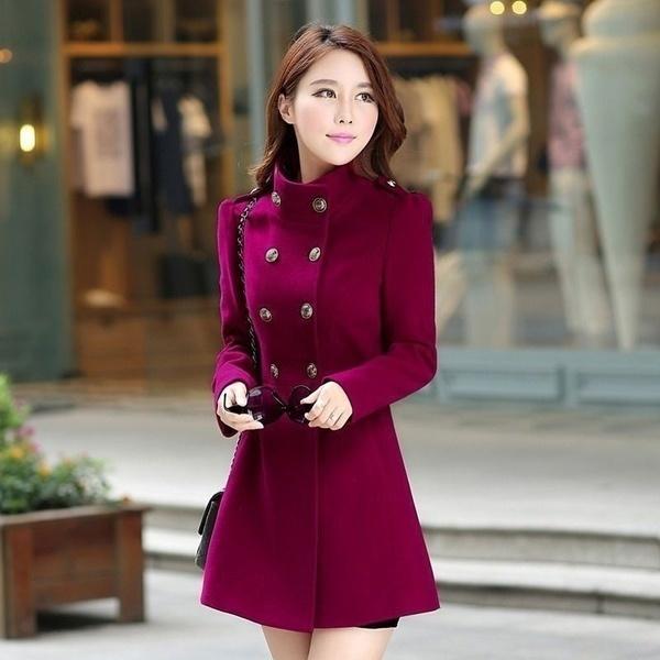 2017ファッション女性レディース暖かい韓国のロングコート冬のジャケットトレンチオーバーコートのアウトウェア