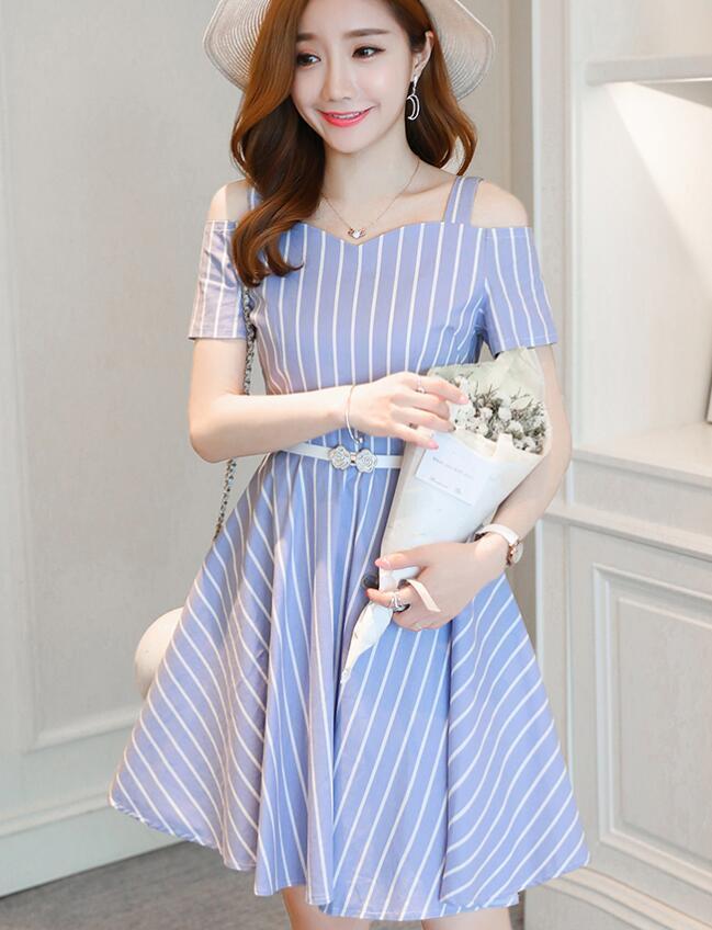 [55555SHOP]韓国ファッション 夏のおでかけに1枚で簡単コーデ完成!上質でこだわり