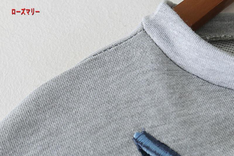 【ローズマリー】欧米風2018早春ファッション新型ゆったり着やせ花刺繍女裙中に袖クルーネックカジュアルワンピース スイート 花柄 刺繍レース 長袖ワンピース  ヴィンテージ調-QQ5588