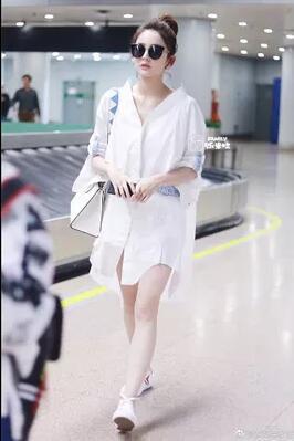 韓国ファッション 超人気 休閑詰め襟のワイシャツ ワンピース /背後が独特でシンプルロングブラウススカート