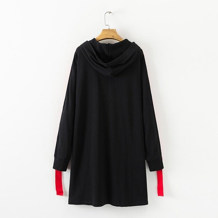 2017秋冬服新型、ゆとりを欧米コードリボン飾フードつかむ絨スウェットワンピース