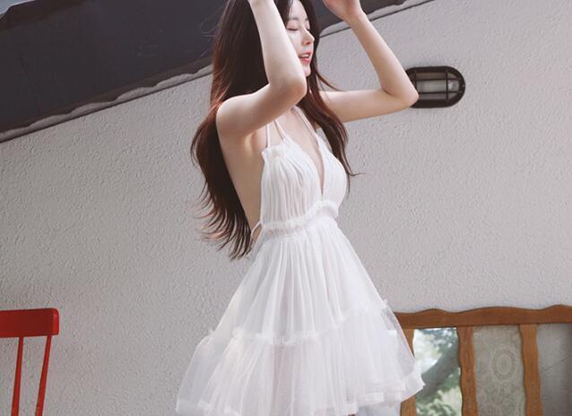 [55555SHOP]可愛い ワンピース エレガンス  ワンピ ドレス タイトレース ミニ丈 パーティー ドレス