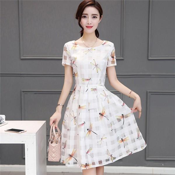 レディースワンピース 韓国無地 スリム 韓国のファッション  シフォンワンピース 上品 ロングスカート  ハイウエストワンピース  プリントワンピース  ハイセンス 着心地いい おしゃれ 夏 スリム