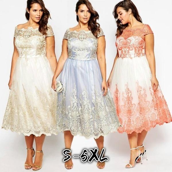 女性のウェディングドレスキャップスリーブプリントパーティードレスエレガントなファッションウエディングドレスプラスサイズWZB9705