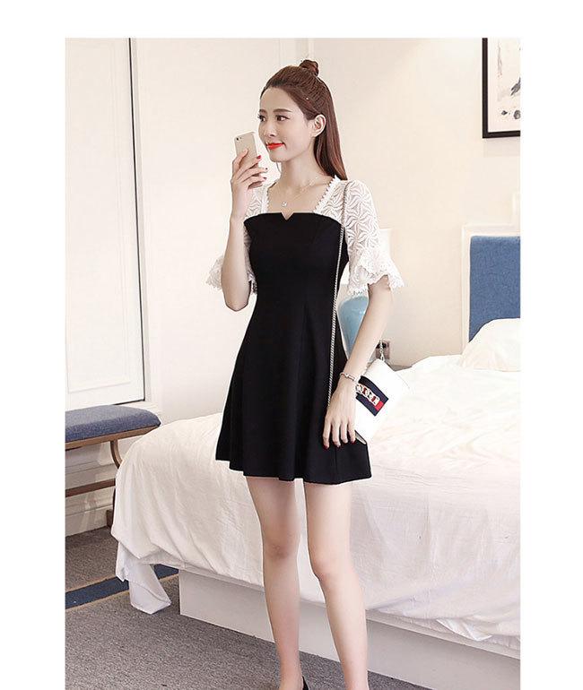 ワンピース レース レディースドレス 透かし彫り レディーススカートチュール 韓国ファッション 気質修身  オシャレ 高級でセクシーなドレス 刺繍フォーマルドレス パーティードレス 高品質