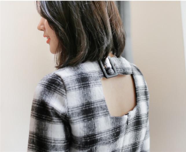 春秋 ワンピース スレンダーライン 格子縞 個性 シンプル レディーズ女性 カジュアル ファッション 合わせやすい