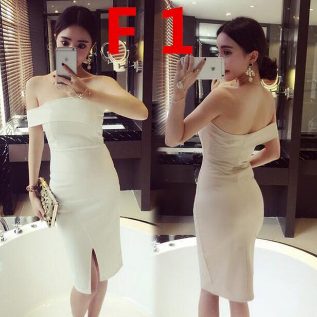 新作追加」♥高品質♥韓国ファッション♥OL 正式な場合 礼装ドレス♥セクシーなワンピース 一字肩♥二点セット 側開 深いVネック♥やせて見える ハイウエストスカート♥无袖 半袖♥ホットトレンド Tシャ