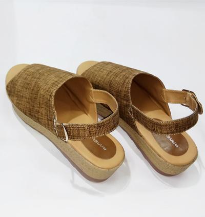 Anneliese sandal wedges wanita daphnie brown terbaru