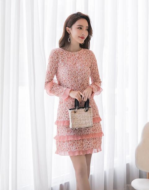 韓国ファッション 2018秋冬新作 ★ ワンピース★ パーティードレス ワンピース  パーティー ドレス ワンピ
