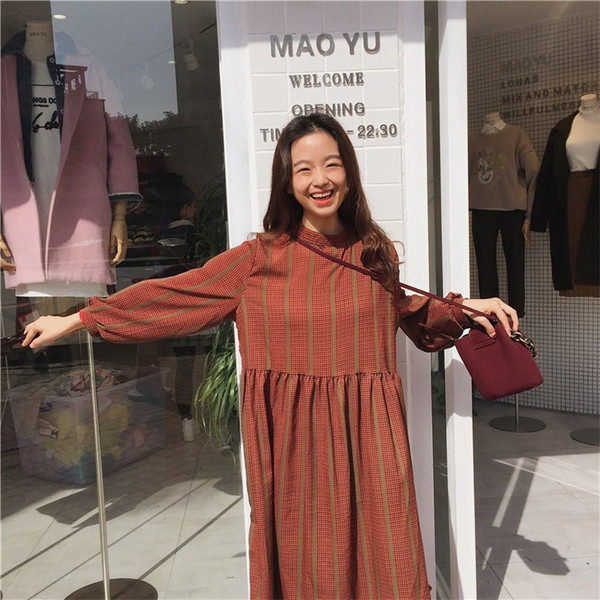 【送料無料】レディース ワンピース チェック柄 ファッション カジュアル 2017 新作