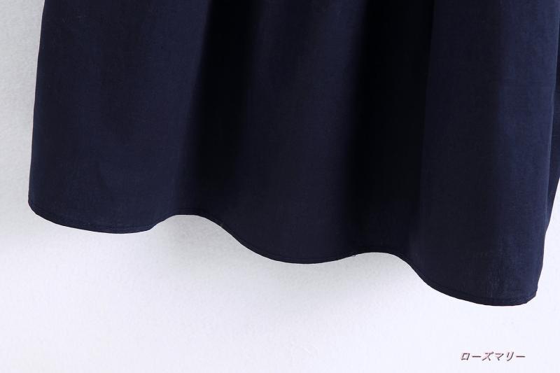 【ローズマリー】あや織りソフトか切り替え丸首ノースリーブワンピース フィットスタイル かわいい ノースリーブワンピース ヴィンテージ調-QQ2152