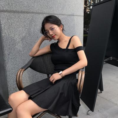 女性服 夏服 何でも似合う 気質 不規則な ベスト ゴム入りのウエスト 引きひも ふわふ