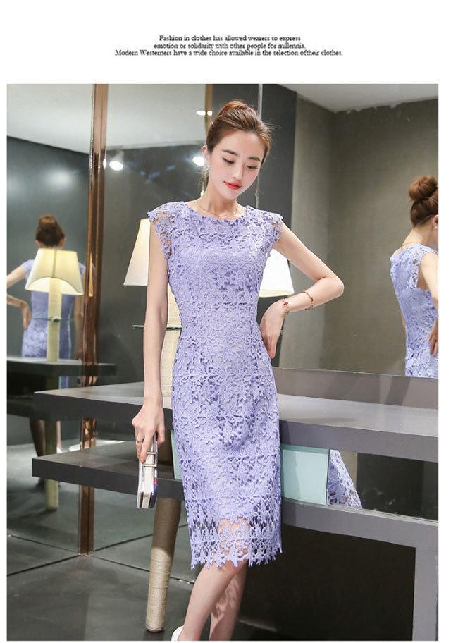 レース ワンピース レディースドレス 透かし彫り スカート 韓国ファッション チュール 気質修身  オシャレ 高級でセクシーなドレス 刺繍フォーマルドレス パーティードレス 高品質 大きいサイズ