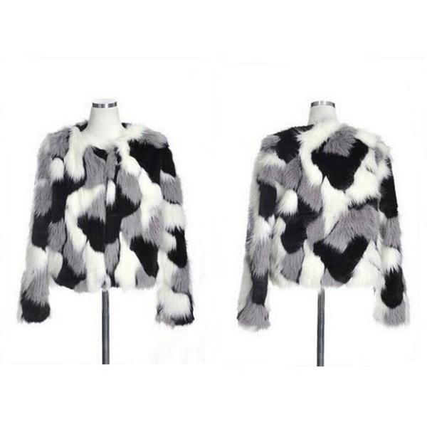 冬の女性暖かいフェイクファーコート女性ヴィンテージミンクフォックスシンプルなファッションカモフラージュジャケット(サイズ:S-5XL)
