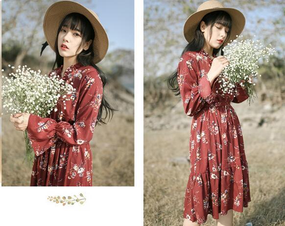 韓国ファッション★女性ファッション★高級なパターンワンピース★デートファッション