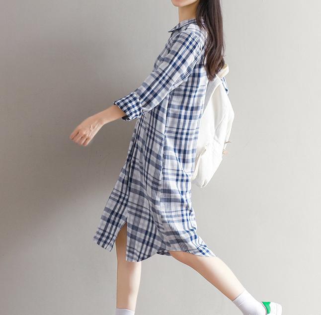 ワンピース Tシャツ ミニ・ひざ丈 長袖 洋服 韓国ファション 綿麻製品 新品登場