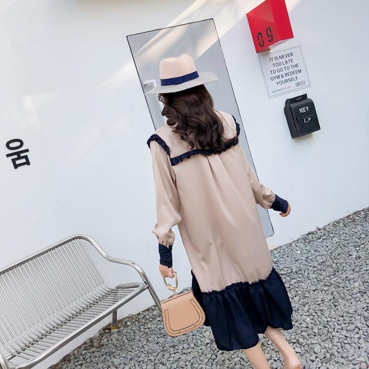 [55555SHOP]花柄フリル袖ワンピース/プレミアムドレス/韓国ファッション