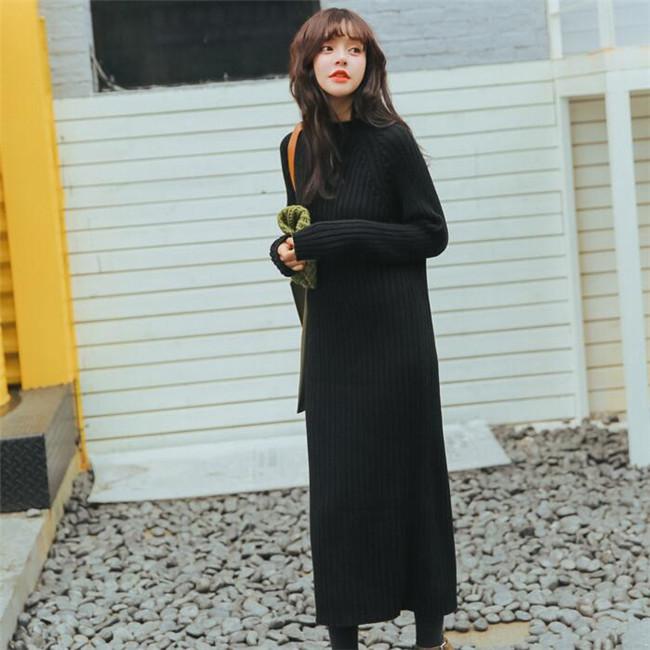【秋冬ワンピース】レディース ワンピース  編みニット セクシー ニットワンピース エレガントスカート ロングワンピース厚手 送料無料  韓国ファッション   柔らかな肌触りで、着心地がよく