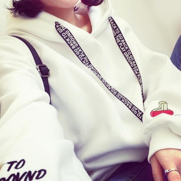 厚手のプルオーバーカジュアルな女性のトップスシャツ女性のプリントフード付きのスウェットファッションロングスリーブVelv