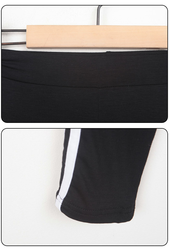 ★送料無料★ロングTシャツ サイドライン 五分丈 レギンスセット[レディース] 韓国ファッション ワンピース バッグ リュック パーカー Tシャツ