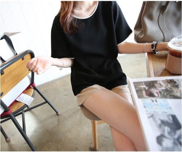 【メール便送料無料】重ね着風Tシャツ  夏 重ね着風 体型カバー【vl-1014】【S/S】