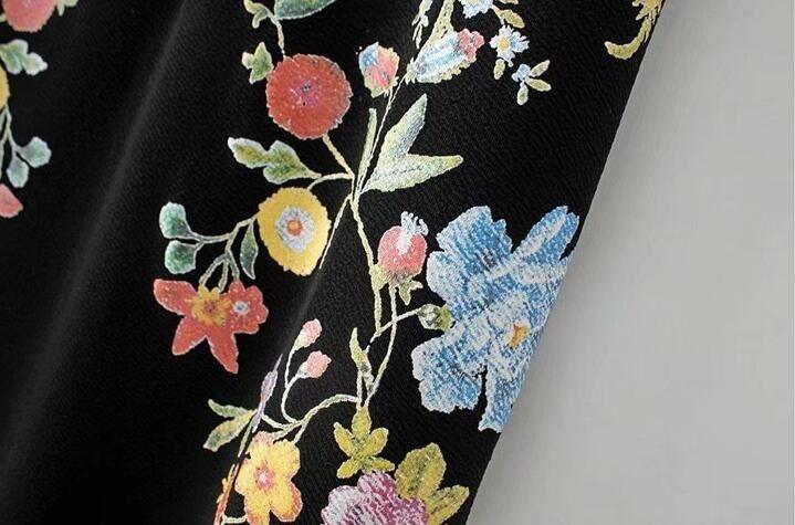 花柄刺繍 ワンピース  ブラウス 上着 トップス レディース