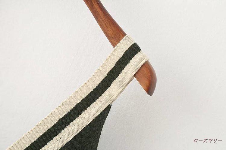 【ローズマリー】ストライプvネックニットを欧米に長いスカート秋新品ストレート着やせ毛織キャミソールワンピース キャミワンピース ニットワンピース  ベーシック-QQ2672