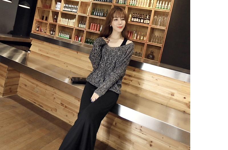 韓国ファション レディースファション ニットワンピース ロングワンピース 2点セット おしゃれ 可愛いお嬢様 ゆっとり 透かし雕りのデザイン ニットワンピース