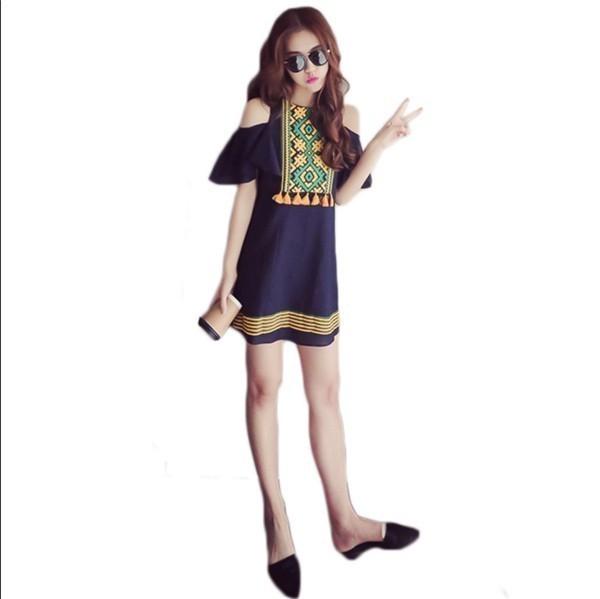 レディースワンピース 韓国無地 スリム 韓国のファッション 上品  学院?  麻綿ベアトップワンピース プリントワンピース ボヘミア ハイセンス 着心地いい おしゃれ 夏 スリム セール★ レディース