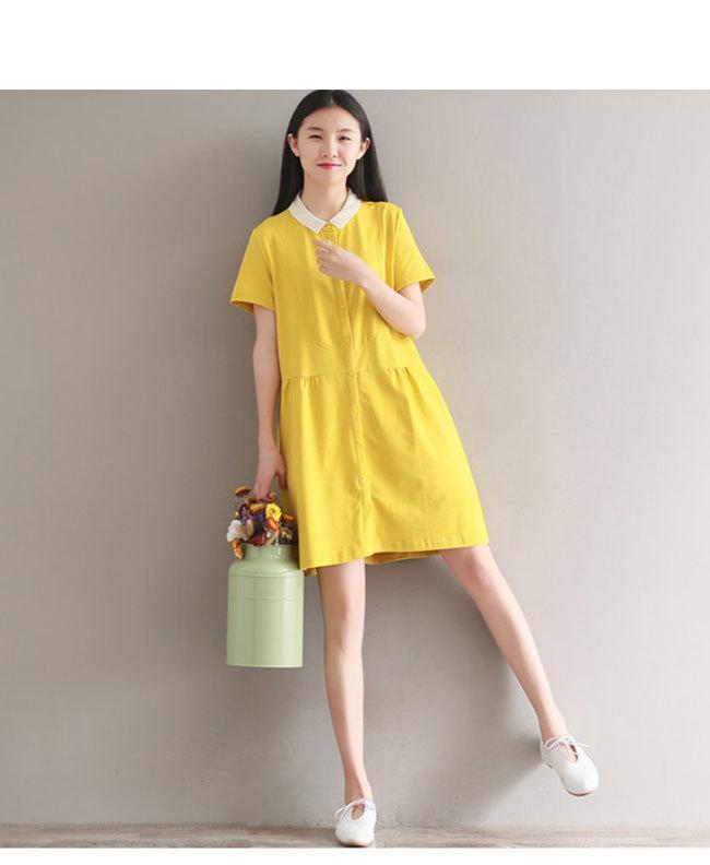 半袖ワンピース レディース 半袖 女性用 体型ワンピース  ドレープ 大きいサイズ カジュアル 無地 ドレス 春夏 おしゃれ 韓国ファッション シンプル ロング丈 清新 着痩せ 上品な素材  ドレス