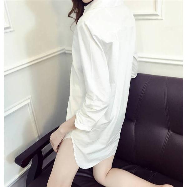 【送料無料】レディース シャツワンピ トップス 長袖  2017年 新作 ファッション シンプル セクシー S M L