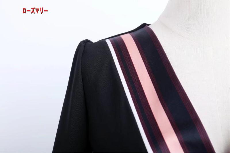 【ローズマリー】韓版女装2018春新型ハイウエスト修身着やせVネックセレブな気質の黒いワンピース ロングワンピース フィットスタイル ヴィンテージ調  ベーシック 大人気-R242