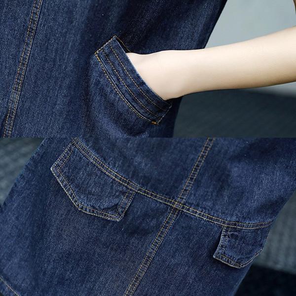 【送料無料】レディース ワンピース スカート 半袖  デニム Aライン 無地 カジュアル 膝丈 ファッション 2017 新作