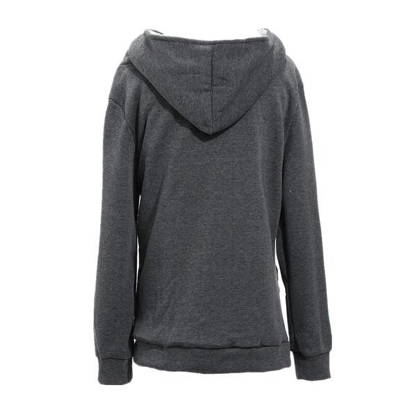 2017新しい女性のファッションプラスサイズ細いジップアップパーカージャケットドローストリングレタープリントロングスリーブスウェー